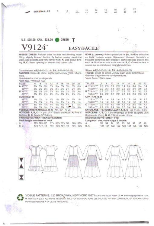 Vogue V9124 1