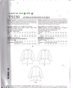 Vogue V9230 1