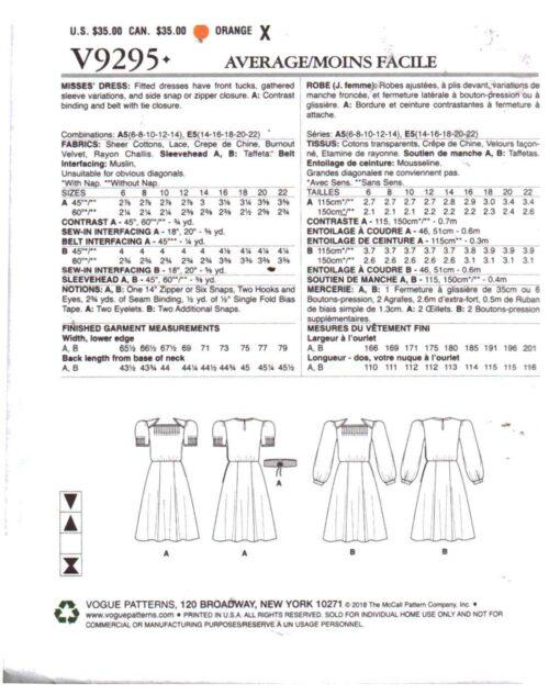 Vogue V9295 1